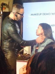 Scott Barnes, JLo and Kim K's makeup artist doing a contouring demo