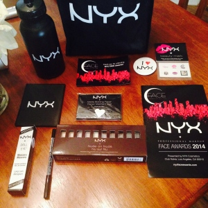 The NYXFACEAWARDS 2014 Gift Bags