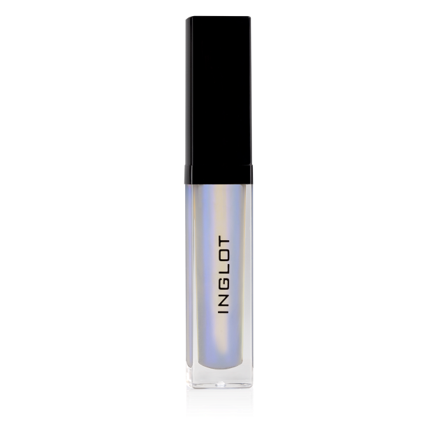 White Inglot lip gloss used in the center of the lips for a POP!