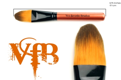 Ve's Favorite Brushes Fantasy Paint brush used to place the cream contour color