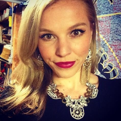 Me wearing NYX lipstick in Chloe