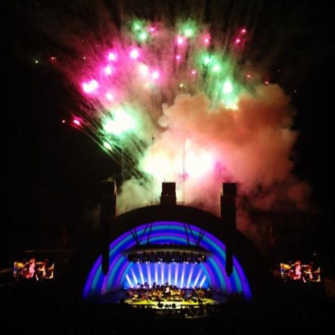 Hollywood Bowl fireworks. Picture from Hollywood Bowl Facebook page.