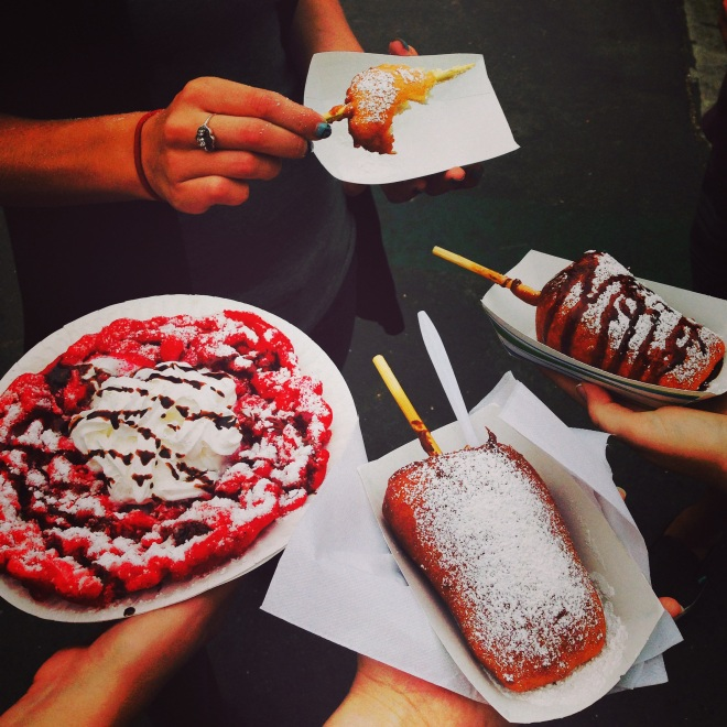 This was from when I went to the OC fair last month. The fried cheesecake was incredible!