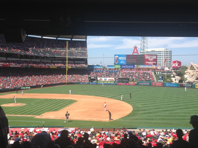 Picture I took at an Anaheim Angels game on 8/31/14. Doesn't this look like a nice place to relax and get to know someone?