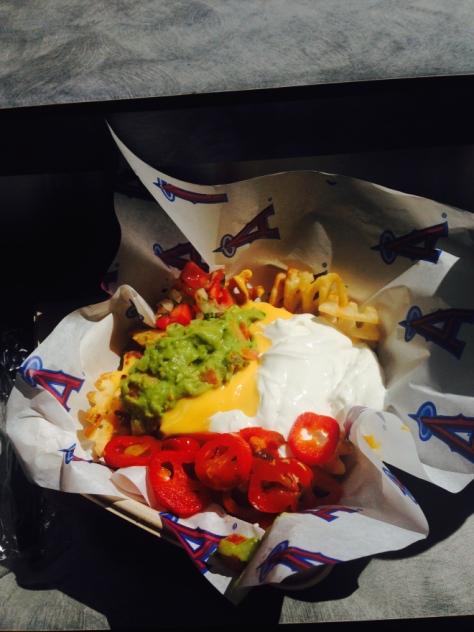 阿纳海姆天使体育场的阿萨达炸薯条