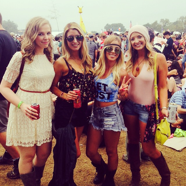 My friends and I at Austin City Limits 2014
