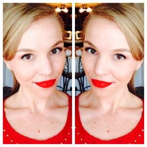 Me wearing Stila Stay All Day Liquid Lipstick in Beso